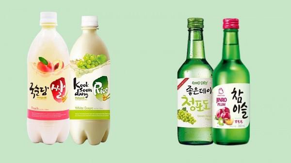 Phân biệt rượu soju và rượu gạo
